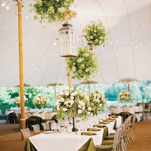 Home tented wedding reception