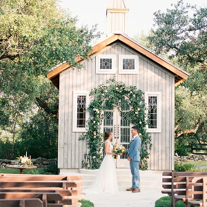 Small chapel wedding ceremony