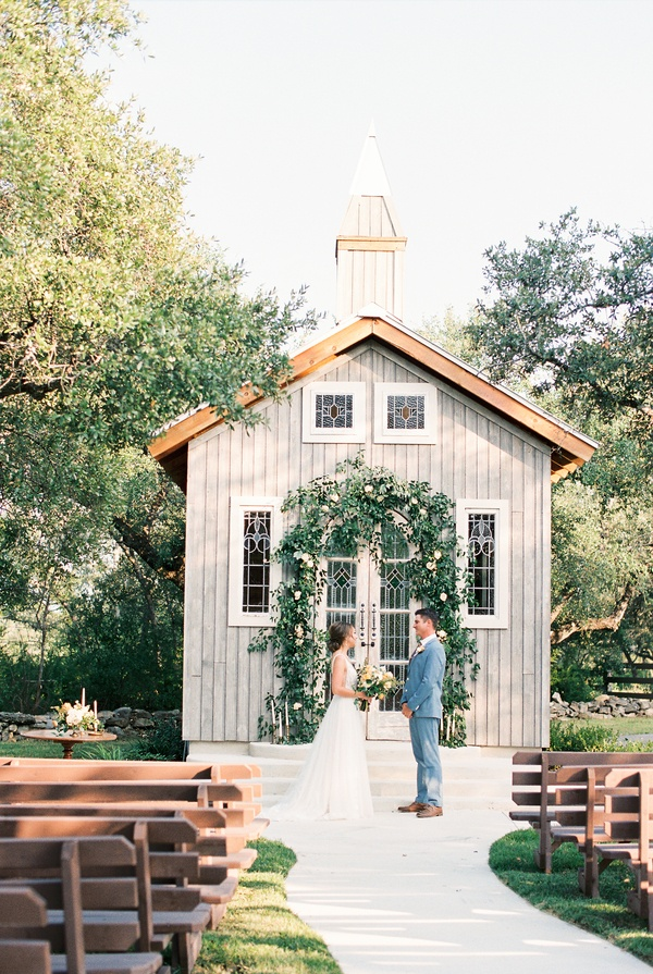 Small chapel wedding ceremony