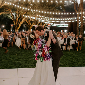 Bride with colorful fringe shrug