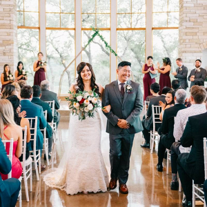 Texas indoor wedding ceremony