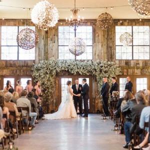 Rustic Texas barn wedding ceremony