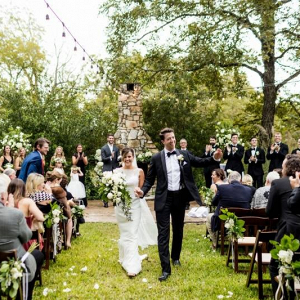 Outdoor wedding ceremony in Austin