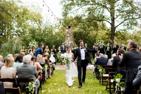 Outdoor wedding ceremony in Austin