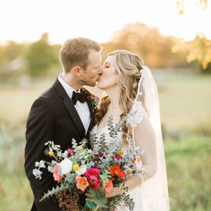 Austin outdoor wedding portrait