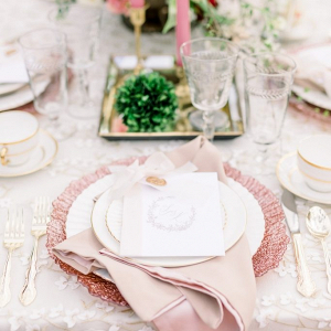 Romantic pink wedding table