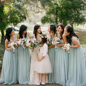 Seafoam bridal party