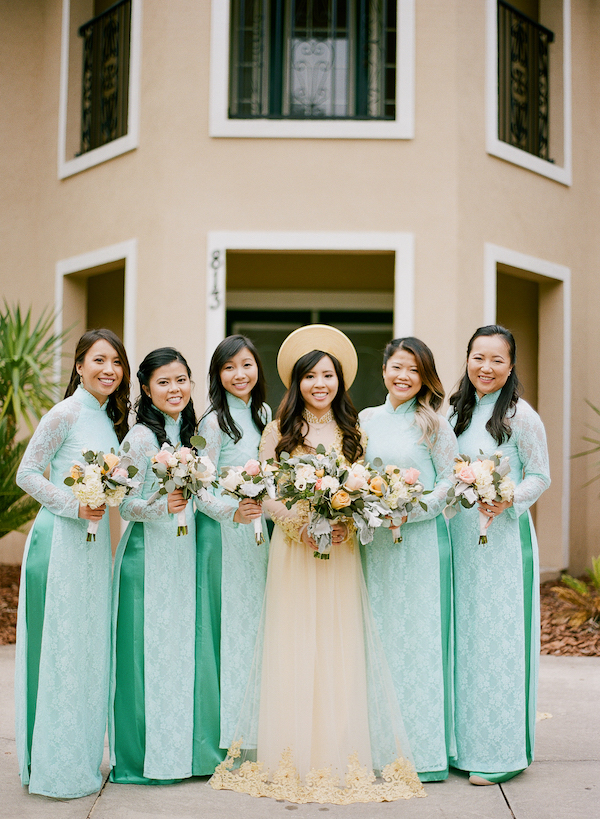 Traditional Vietnamese bridal party