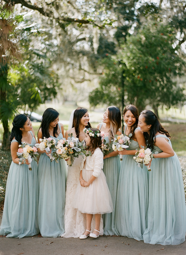 Seafoam bridal party