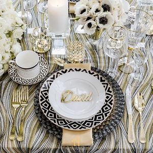 Black and Gold Tablescape - Luxury Wedding Decor