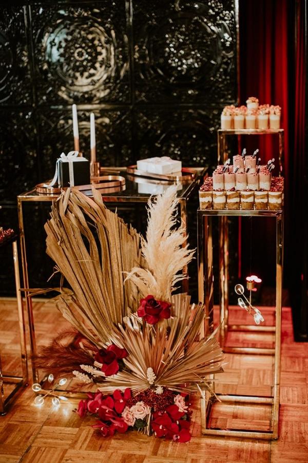 Modern luxe dessert display