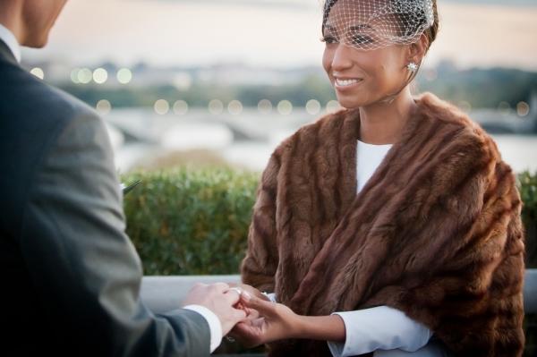 Bridal Stole Chic Washington DC Elopement