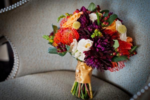 Fall Bouquet Chic Washington DC Elopement
