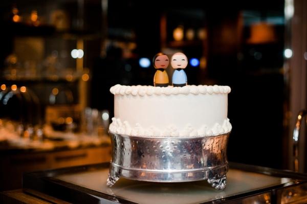 One Tier Wedding Cake Chic DC Elopement