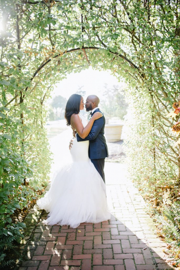 Garden wedding portraits