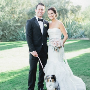 Dog Ring Bearer Classic Blush Arizona Wedding