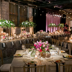 Luxe wedding reception