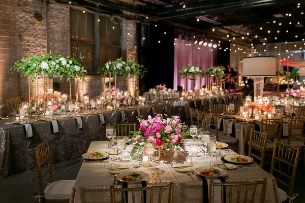 Luxe wedding reception