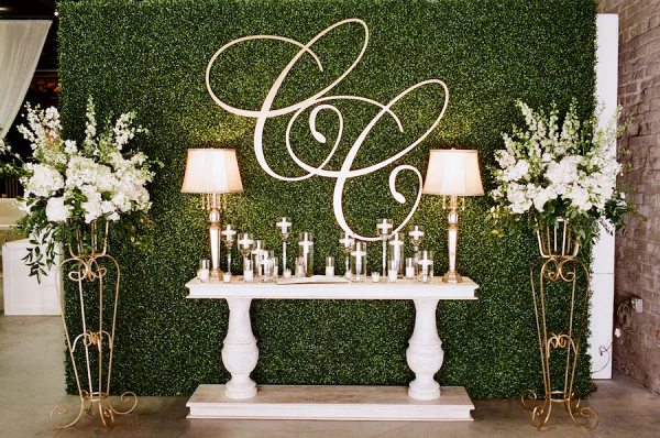 Luxe wedding decor