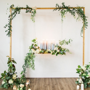 romantic greenery ceremony on Aisle Perfect