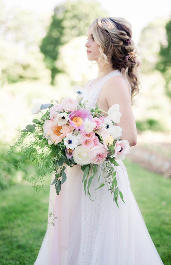 Lush pink bridal bouquet