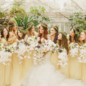 Yellow bridal party