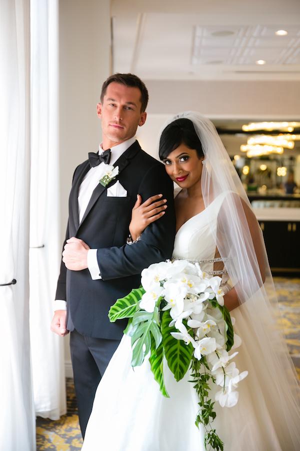 Glam hotel wedding