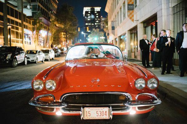 Vintage car getaway