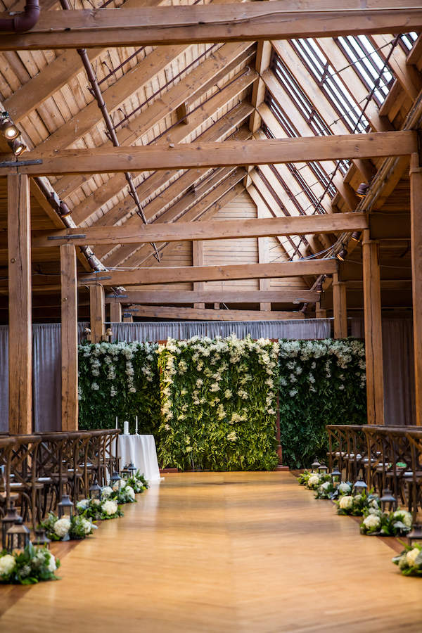 Greenery filled wedding on Aisle Perfect