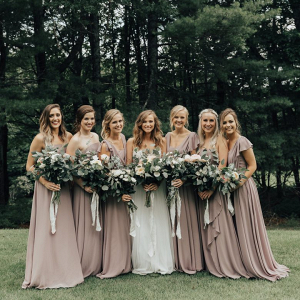 Taupe bridal party