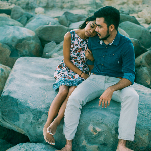 Oceanside engagement session