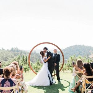 Circle ceremony backdrop