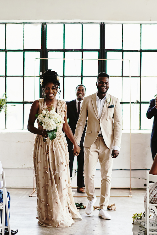 intimate Houston loft wedding
