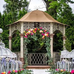 kate spade inspired garden wedding on Aisle Perfect
