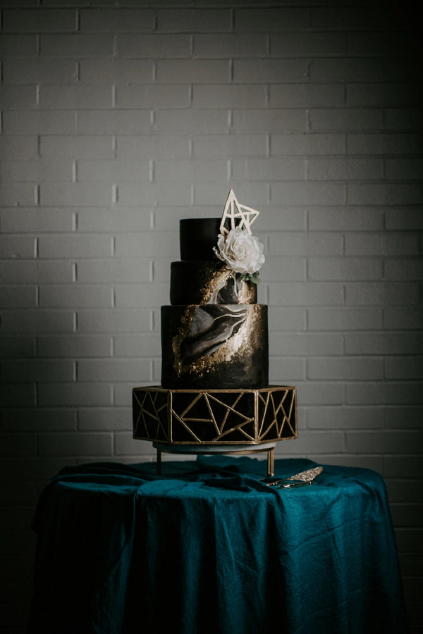 Geometric wedding cake
