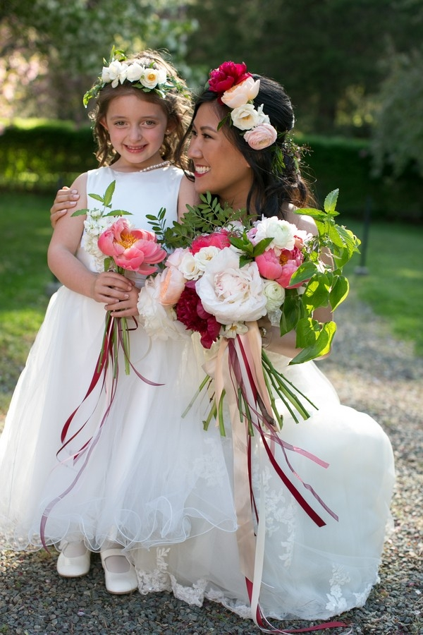 Flower Girl and the Bride | Cultural Wedding at The Mansion at Turner Hill