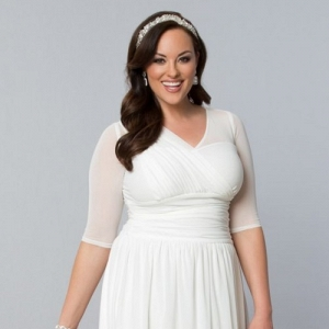 Three Quarter Sleeve Bridal Shower Outfit by Kiyonna