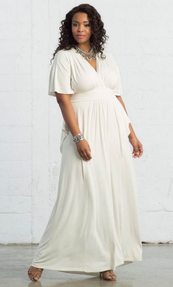 white maxi dress for bridal shower