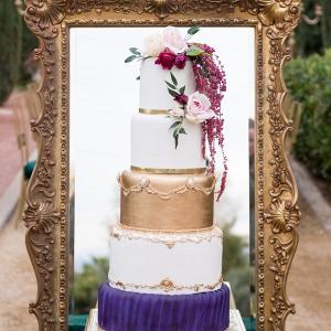 Glam wedding cake