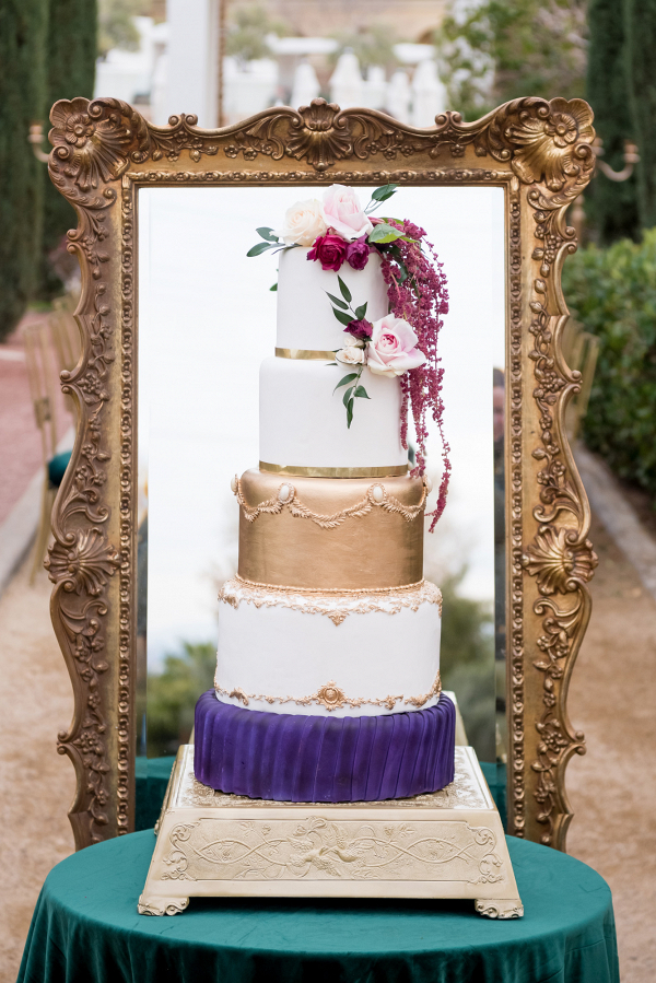Glam wedding cake