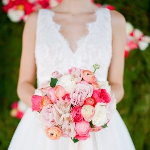 Spring Watercolor Wedding Bouquet