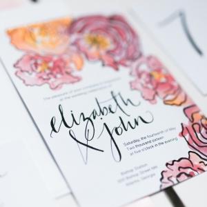 Spring Watercolor Wedding Invitation