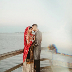 Pakistani engagement shoot