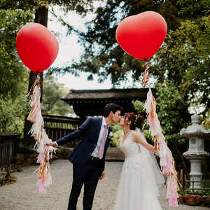 Heart balloons with tassels