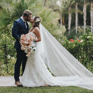 Tropical garden wedding