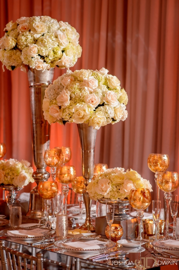 high white floral centerpieces