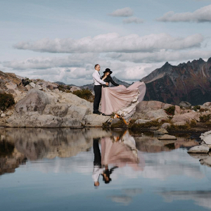 Indie mountain elopement