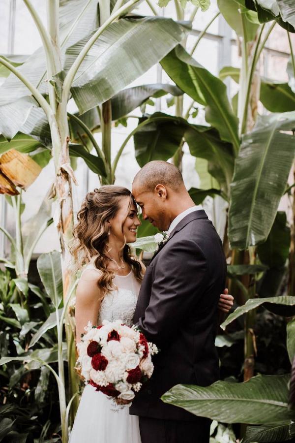 Central Washington University wedding portrait