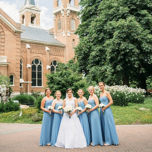 Blue bridesmaid dresses