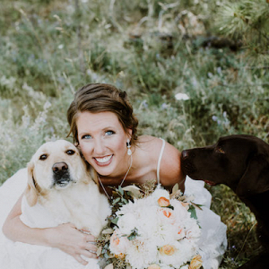 We Love A Bride That Includes Her Fur Babies!